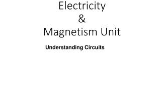 Electricity  & Magnetism Unit