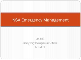 NSA Emergency Management
