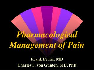 pharmacological management of pain