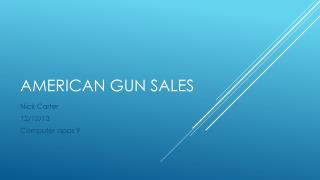 American gun sales