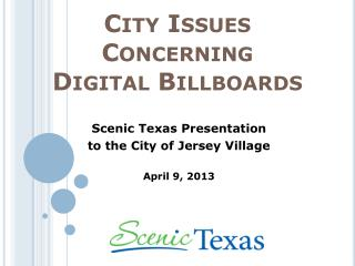 City Issues Concerning  Digital Billboards