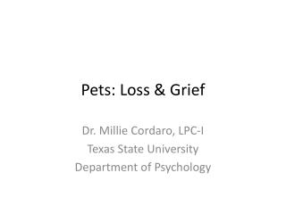 Pets: Loss & Grief