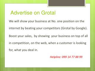 Advertise on Grotal