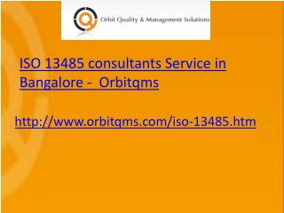 iso 13485 consulting service in bangalore