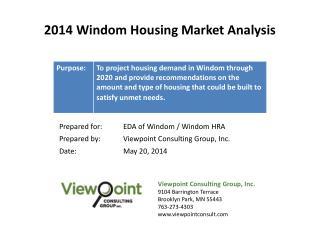 2014 Windom Housing Market Analysis