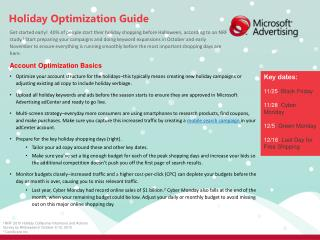 Holiday Optimization Guide