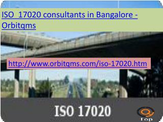 iso 17020 consulting service in bangalore