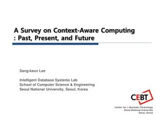 A Survey on Context-Aware Computing : Past, Present, and Future