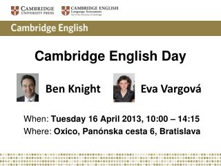 Cambridge  English Day