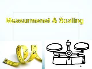 Measurmenet  &  Scaling
