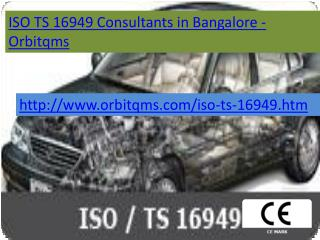 iso ts 16949  consulting service in bangalore