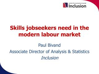 Skills jobseekers need in the modern labour market