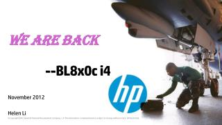 We are Back            -- BL8x0c i4