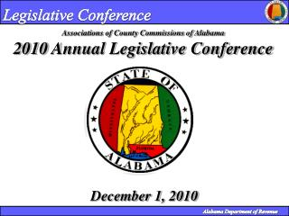 Associations of County Commissions of Alabama 2010  Annual Legislative Conference