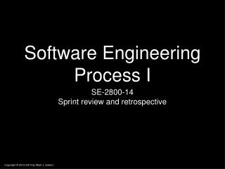 Software Engineering Process I