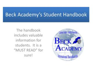 Beck Academy's Student Handbook