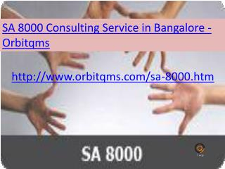 sa 8000  consulting service in bangalore