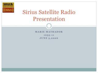 Sirius Satellite Radio Presentation