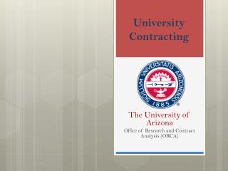 University Contracting