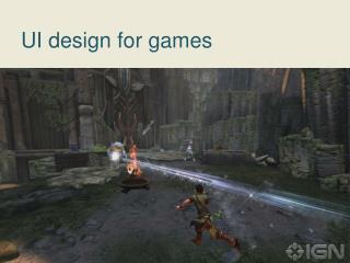 UI design for games