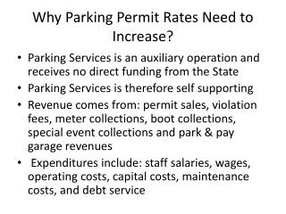 Why Parking Permit Rates Need to Increase?