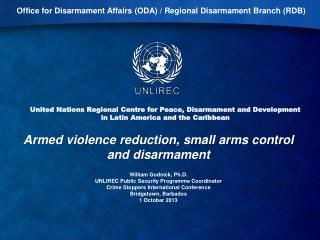 United Nations Regional Centre for Peace, Disarmament and Development in Latin America and the Caribbean