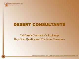 DESERT CONSULTANTS