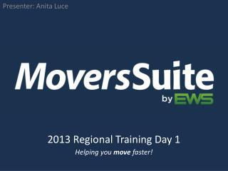 2013 Regional  Training Day 1