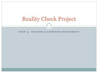 Reality Check Project