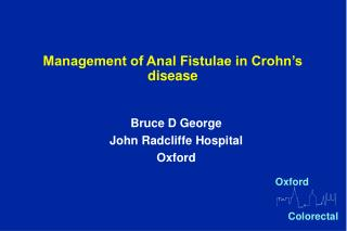 management of anal fistulae in crohn s disease