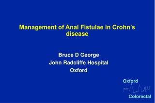 management of anal fistulae in crohn s disease