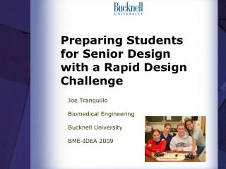 Preparing Students for Senior Design with a Rapid Design Challenge