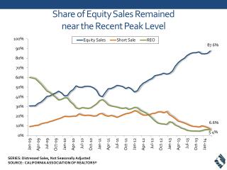 Share of Equity Sales  Remained  near the Recent Peak Level