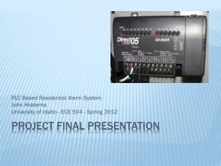 Project final presentation