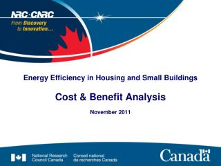 Energy Efficiency in Housing and Small Buildings Cost &  Benefit Analysis