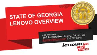 State of  georgia lenovo  overview