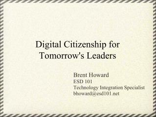 Digital Citizenship for Tomorrow's Leaders