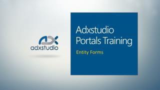 Adxstudio Portals Training