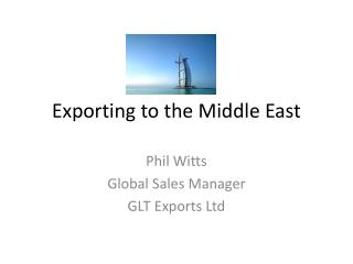 Exporting to the Middle East