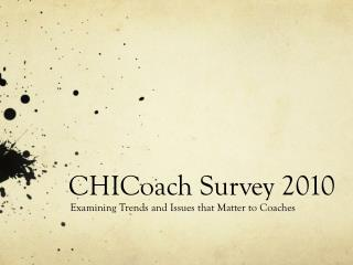 CHICoach Survey 2010