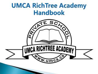 UMCA RichTree Academy Handbook