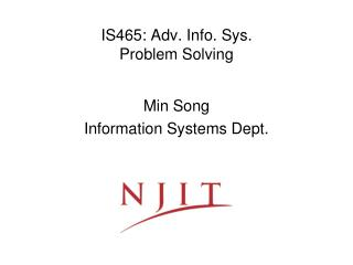 is465: adv. info. sys. problem solving