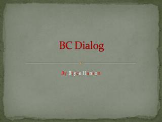 BC Dialog