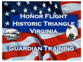 Honor Flight Historic Triangle Virginia
