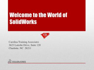 Welcome to the World of SolidWorks
