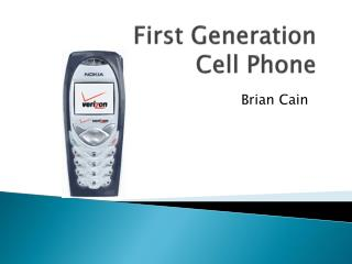 First Generation Cell Phone