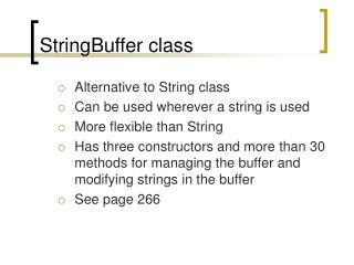 stringbuffer class
