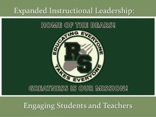 Expanded Instructional Leadership: