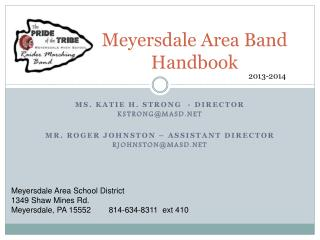 Meyersdale Area Band Handbook