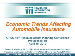 Economic Trends Affecting Automobile Insurance